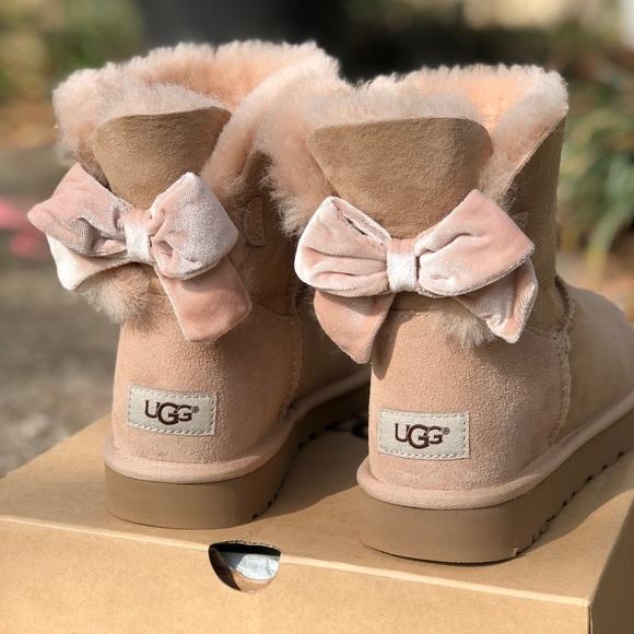 2e6bb7e89f8 New! UGG Bailey velvet bow mini boots 😍🎀 NWT
